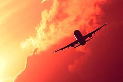 plane-sunset-orlando-florida